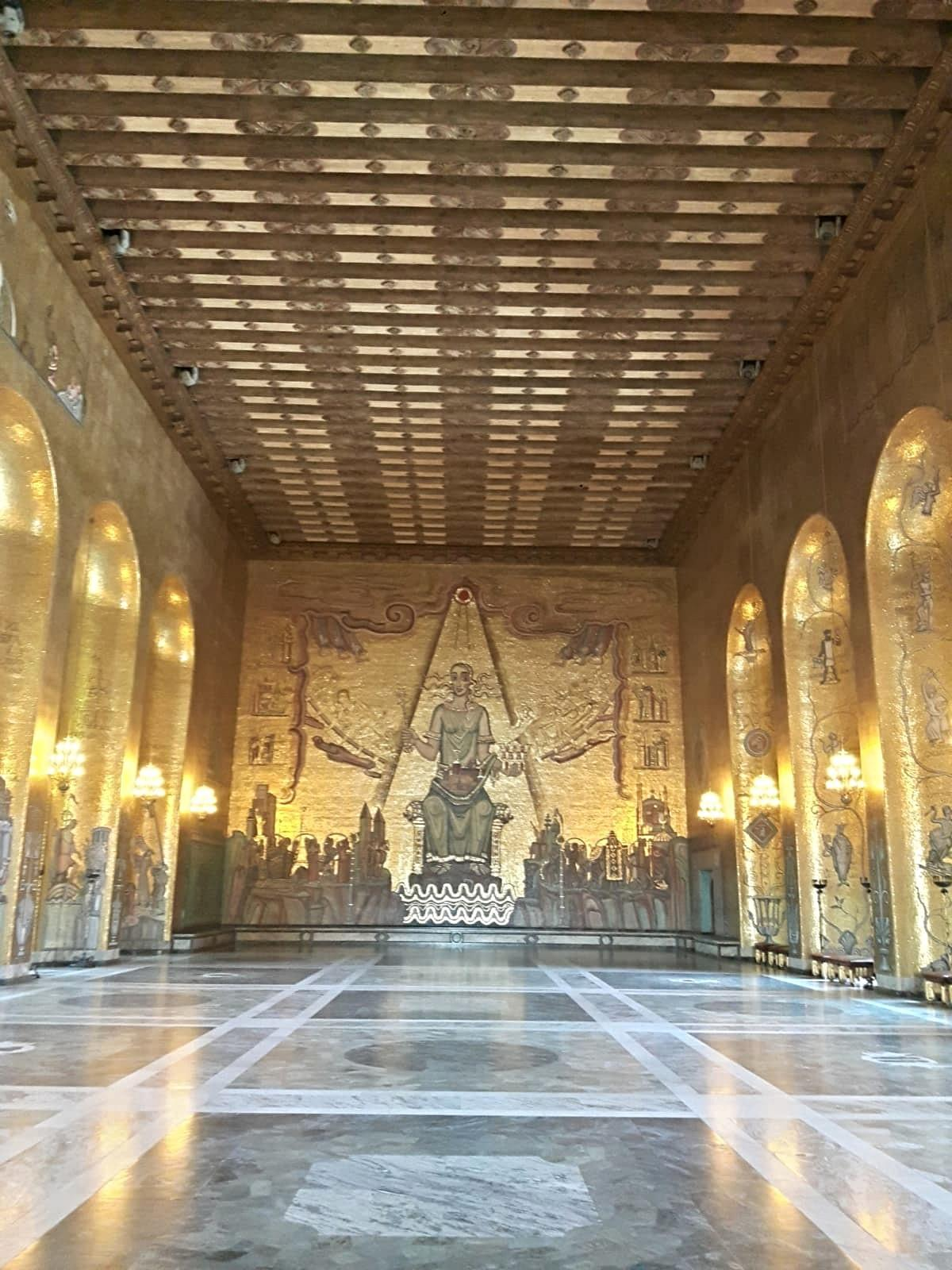 Golden Hall At Town Hall at Stockholm