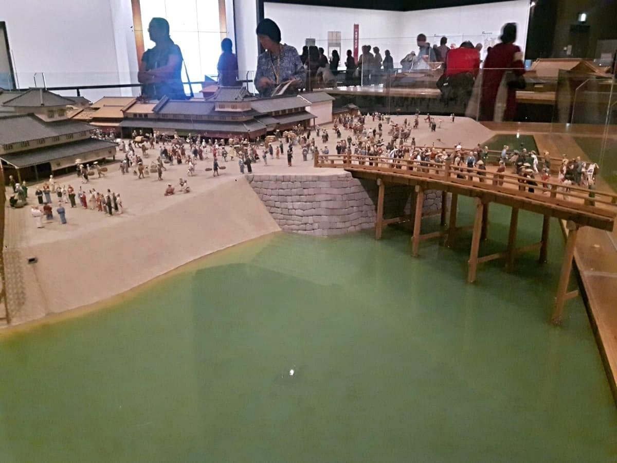 Hanabashi Bridge Model at Edo Museum