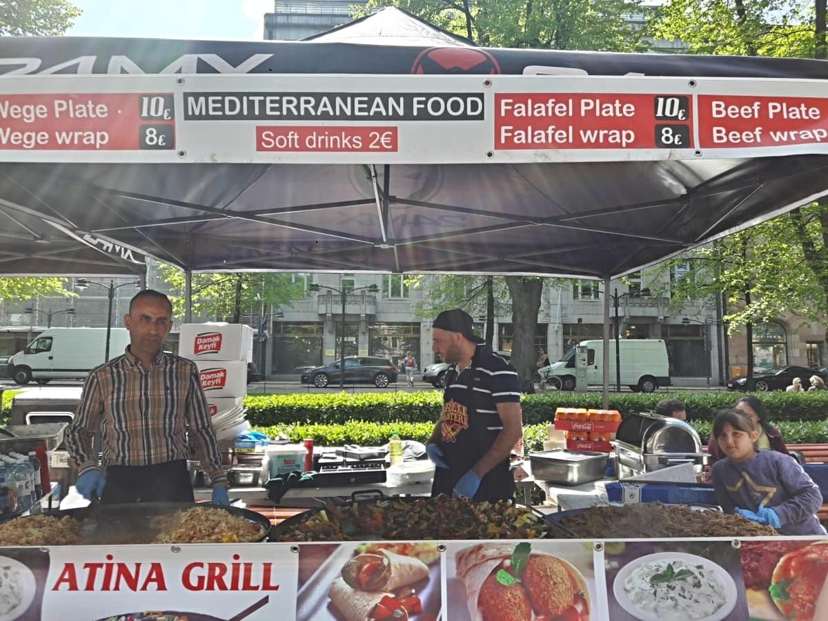 Food Stall at Market Square in Helsinki