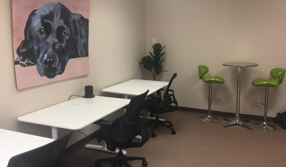 Coworking spaces with affordable meeting rooms and dedicated workspaces in Englewood Cliffs of Bergen County, New Jersey. Temporary or long term 24/7 workspaces, private work-ready offices and conference rooms, unlimited coffee, tea, filtered water and a cafeteria next door.