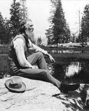 Sierra Club founder John Muir in Yosemite Valley