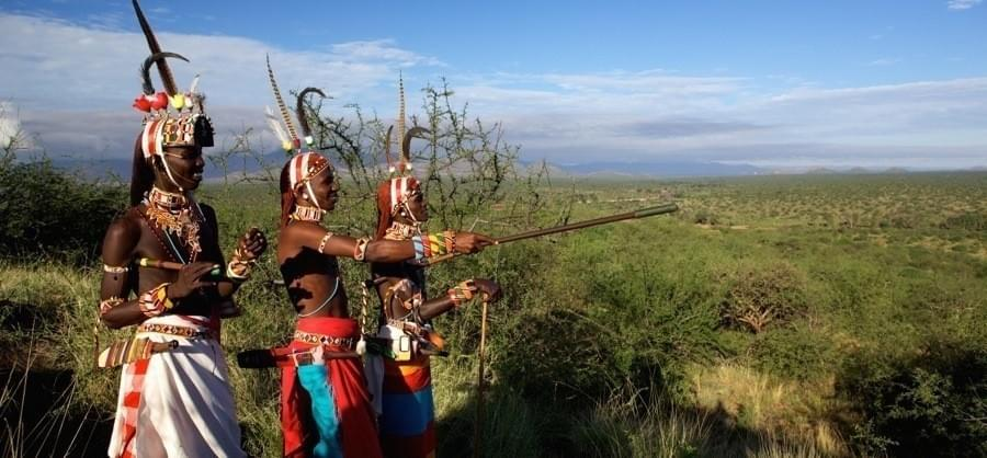 Samburu warriors working with Ewaso Lions to track lions instead of killing them