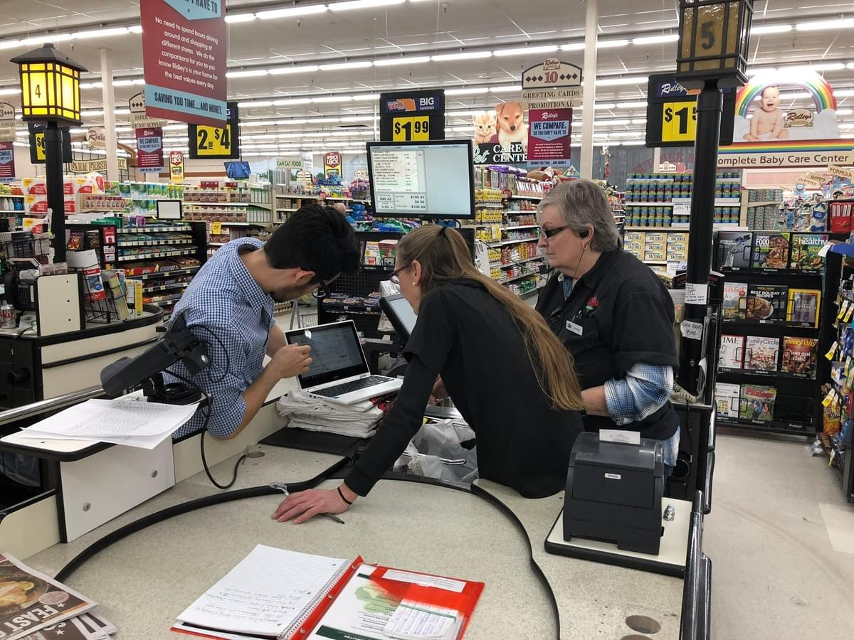 Rosie's onsite implementation team helps an Enterprise Tier retailer team learn about using the system.