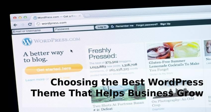 Choosing the Best WordPress Theme That Helps Business Grow