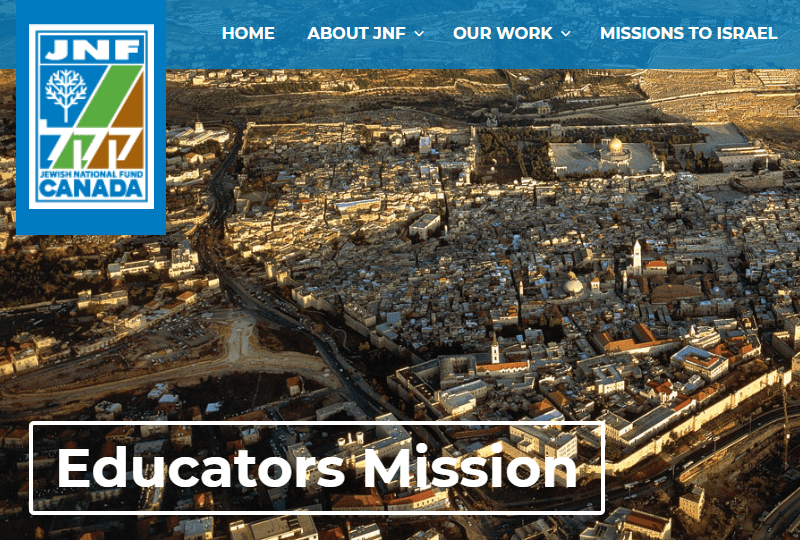 Jewish National Fund Canada Educators Mission, 2019