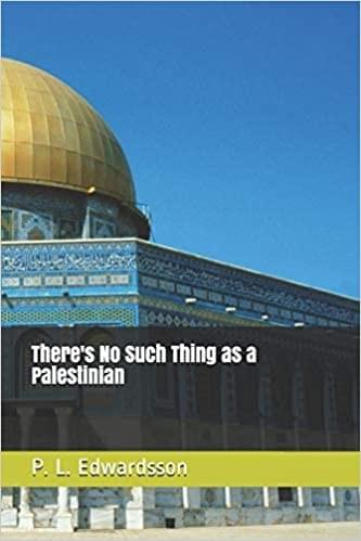Cover: 'There's No Such Thing As A Palestinian,' by P.L. Edwardsson