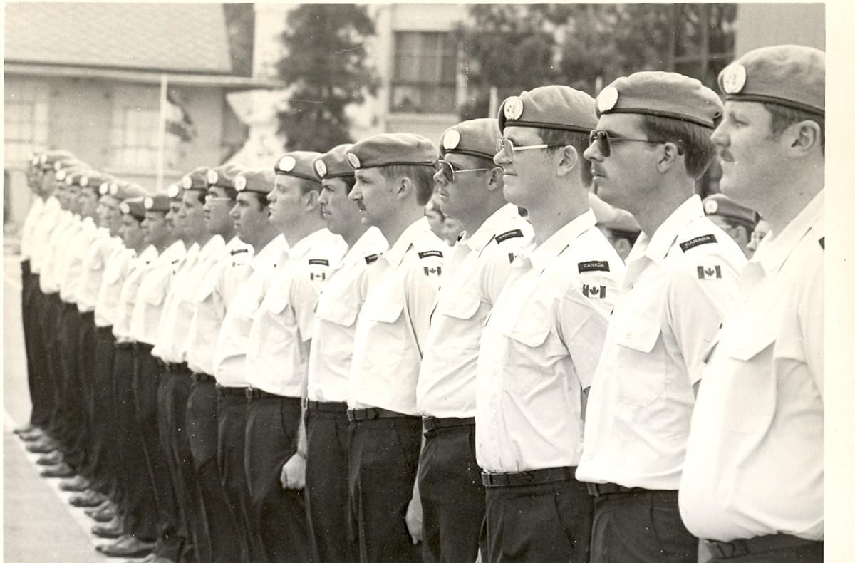 Mark Vandermaas, UNEF 1978 (3rd from R)