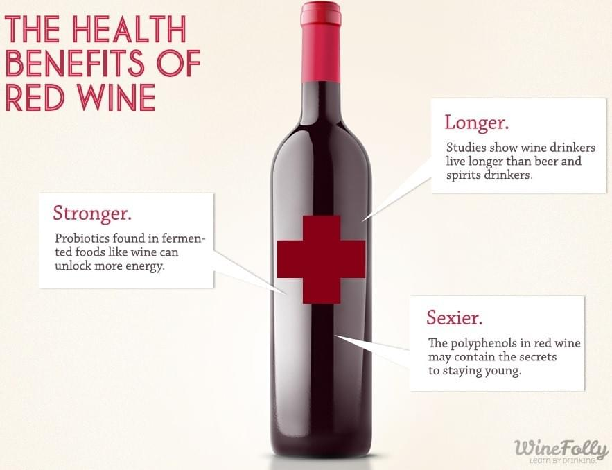 health benefit red wine