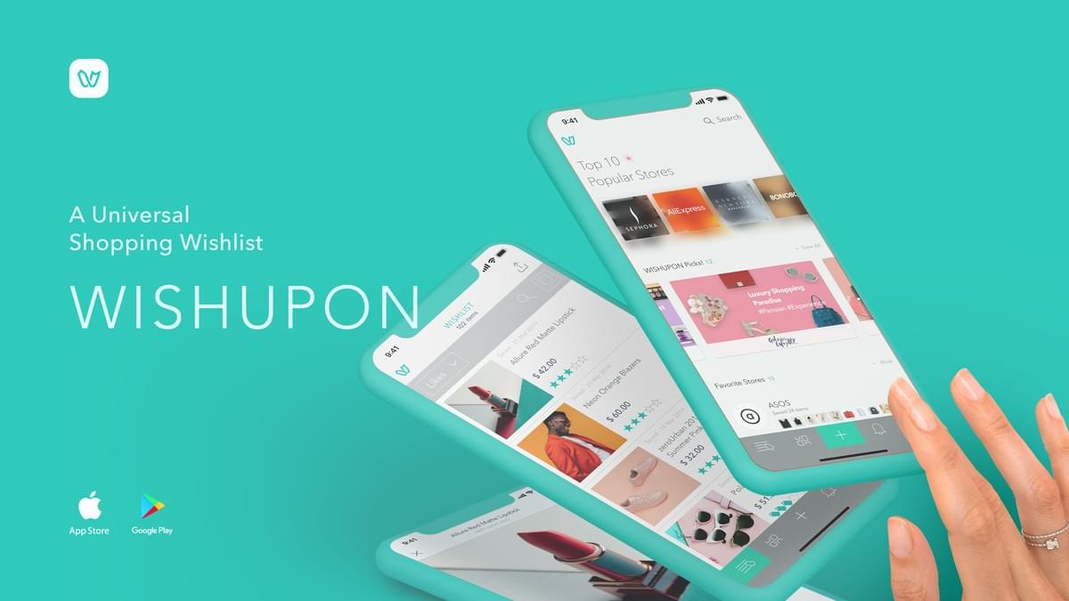 A Universal Shopping Wishlist, Wishupon, Shopping app, wishlist app, wish list, shopping list app