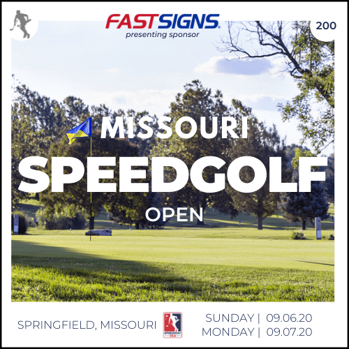 2020 Missouri Speedgolf Open presented by Fast Signs