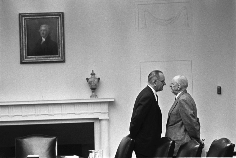 President Lyndon Johnson and Senator Richard Russell, December 1963