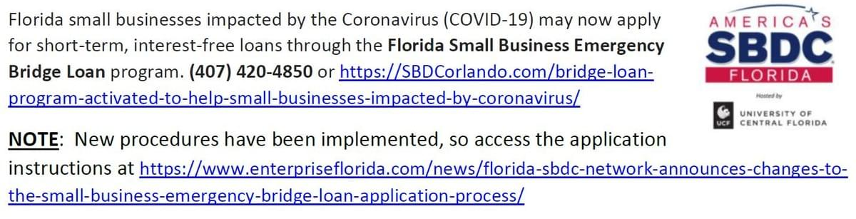 Link to Florida's Small Business Emergency Bridge Loan program