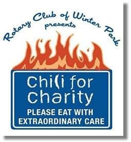 Logo for Chili for Charity by Rotary Club of Winter Park