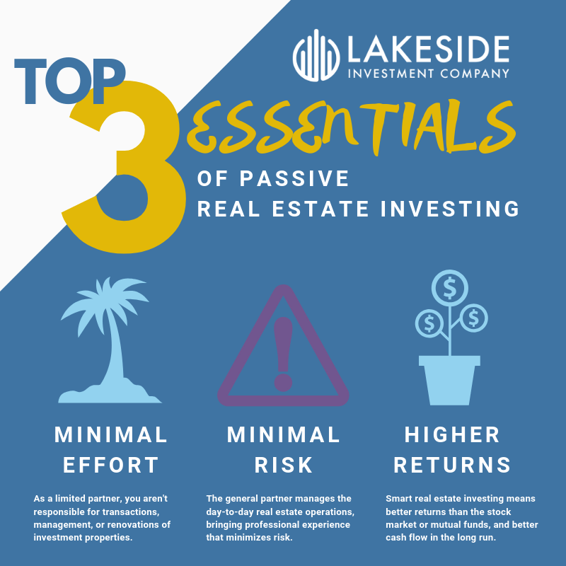 Lakeside Investment Company, Top 3 Essentials of Passive Real Estate Investing