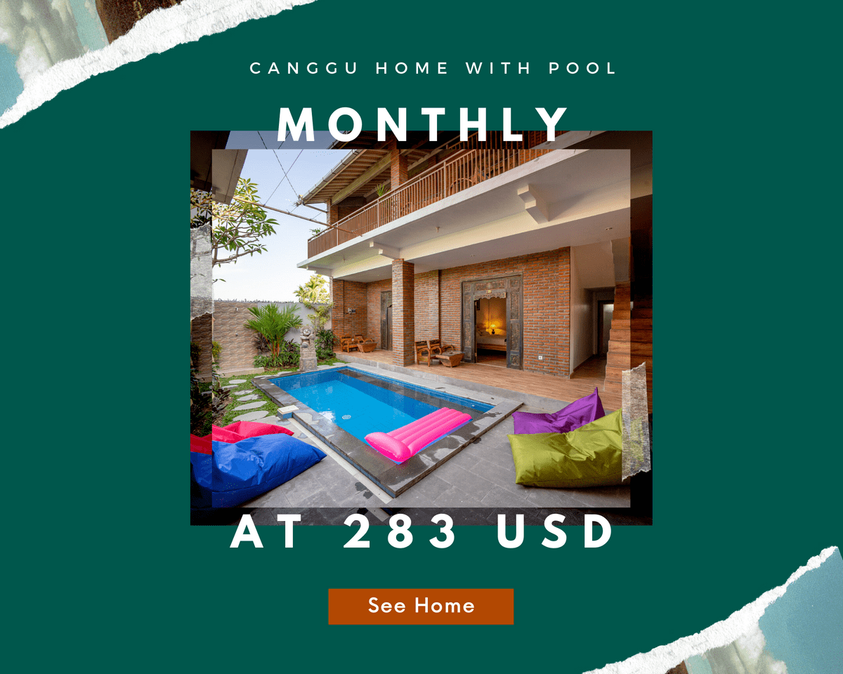 cheap canggu home monthly rental