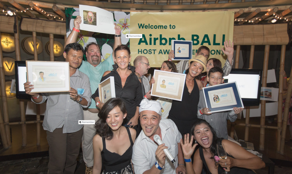 Hosts needed something more than just bookings to keep them motivated. We created host award programs to publicly commend hosts for the most incredible reviews. It was like the Academy Awards nights of Airbnb in Bali.