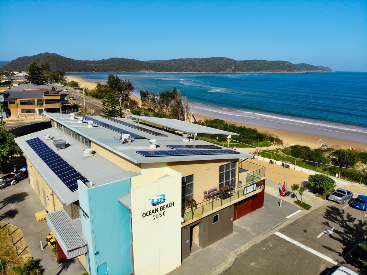 RESINC Solar's recent installation of 19.76kW for  Ocean Beach SLSC, Central Coast NSW
