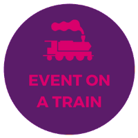 corporate event in private train