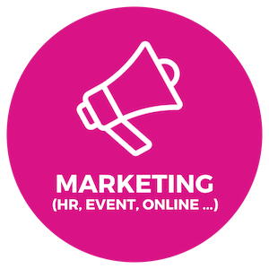 event marketing, HR marketing, online marketing