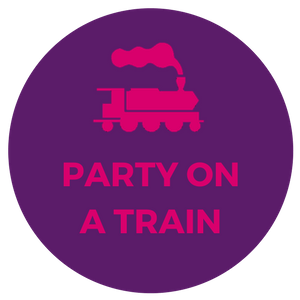hen stag night party in private train