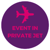 stag hen party night in private jet