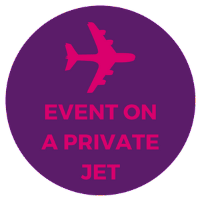 corporate event in private jet boeing