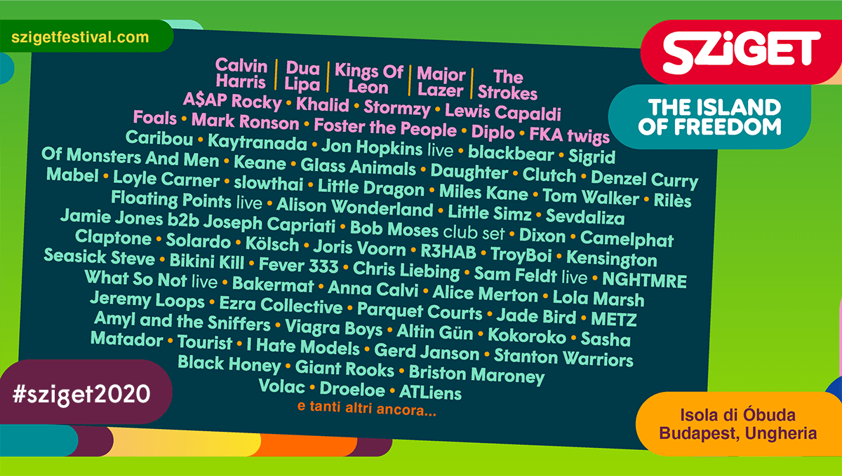 Sziget Festival Line-up