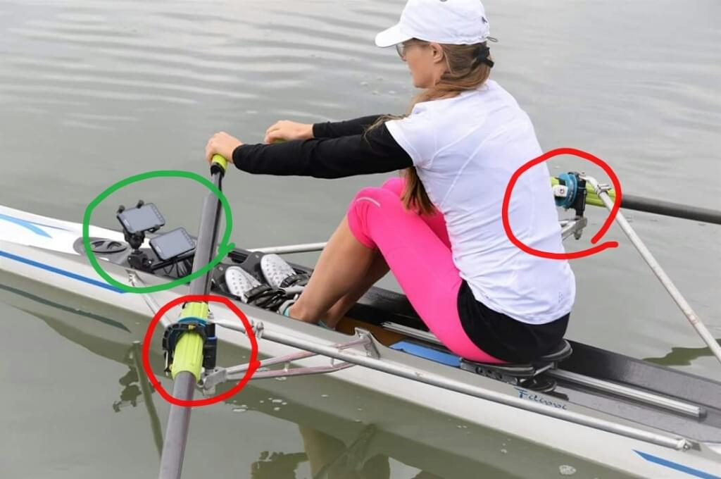 The Quiske Rowing Performance System consists of sensors and a phone App