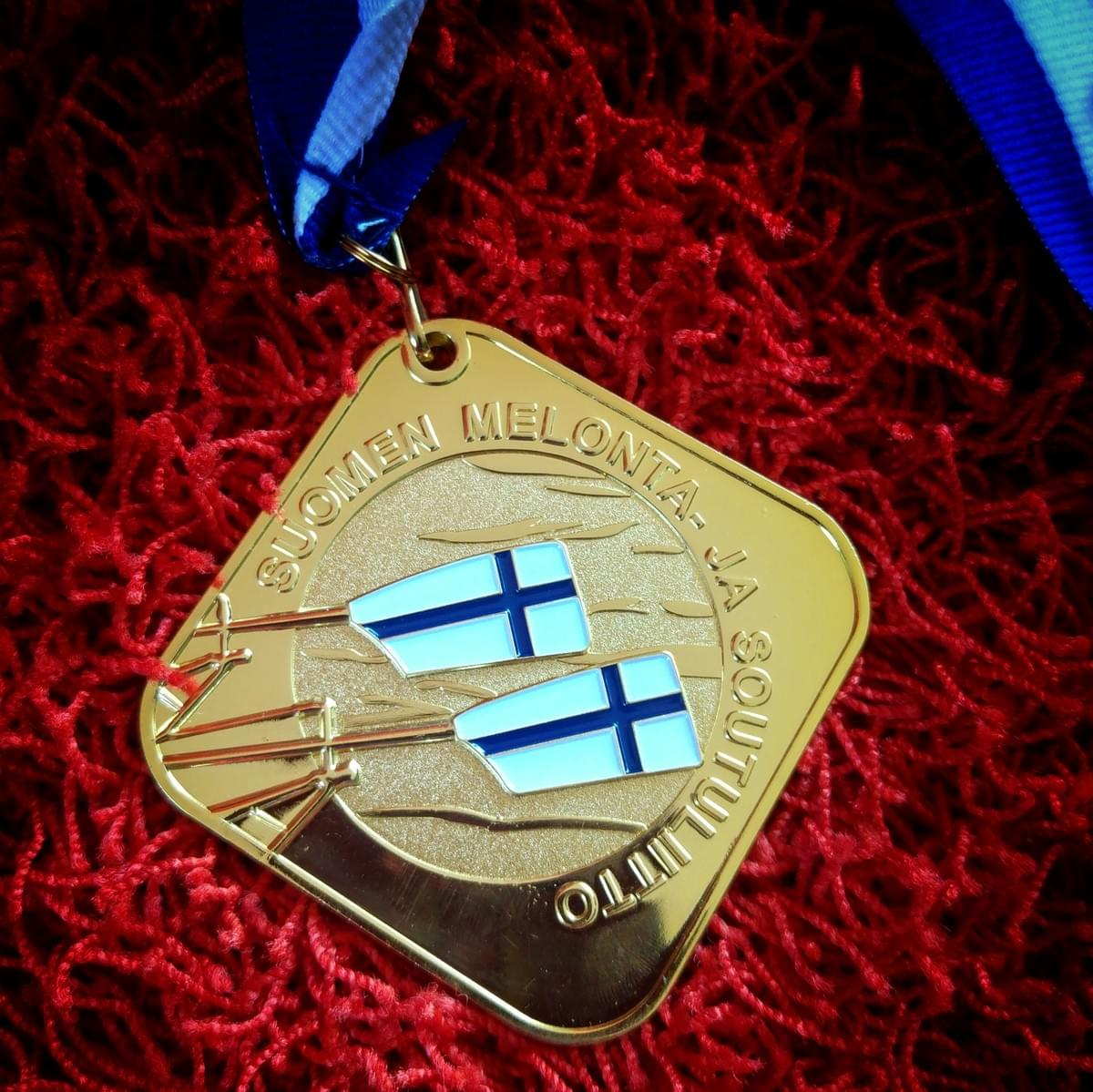 The Finnish championship gold medal!