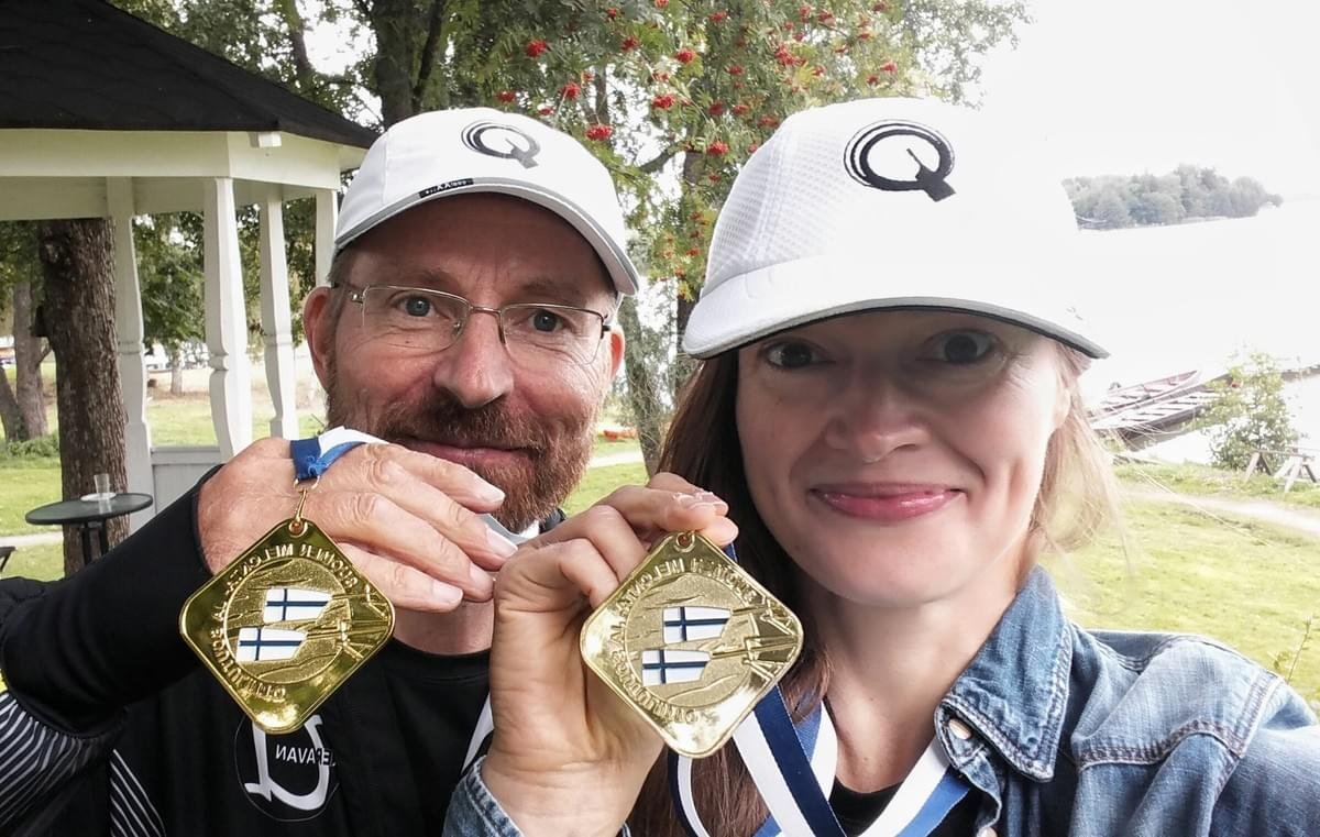 Finnish Championship Gold from rowing the 10km race