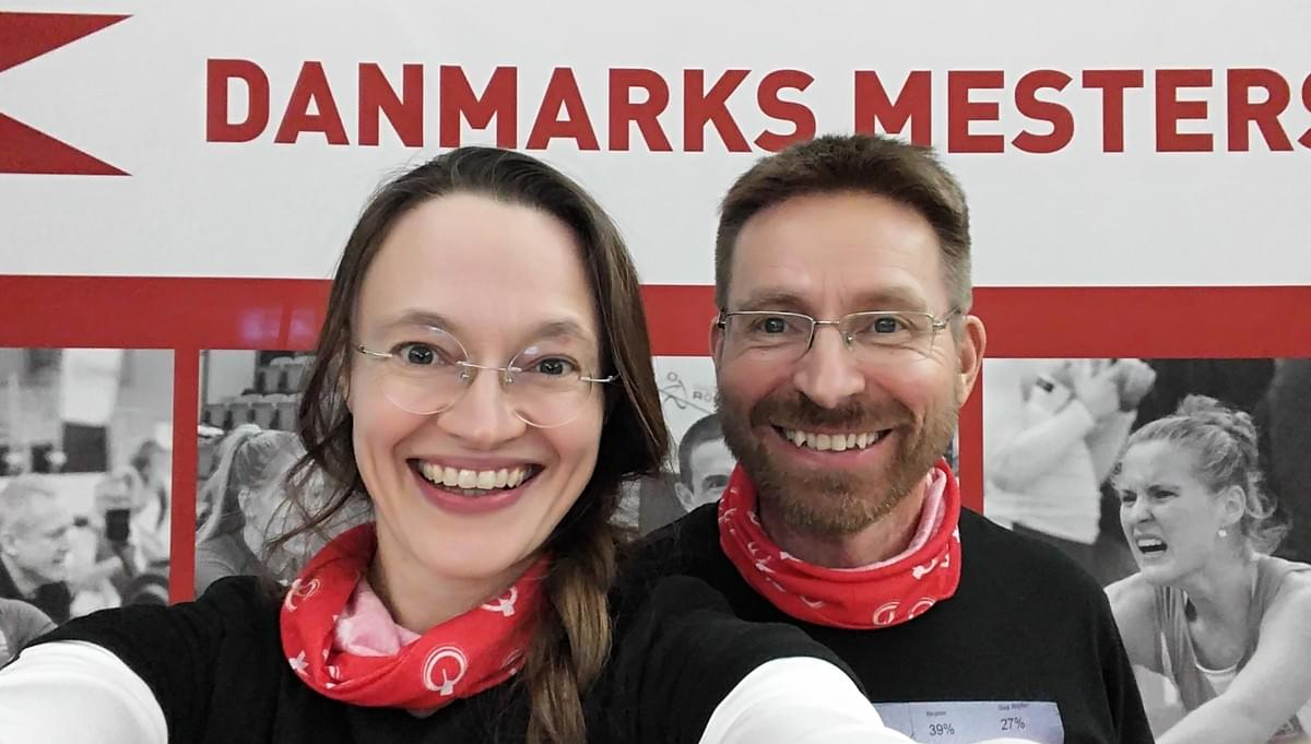 Pentti And Kristina learned a lot at the Danish Indoor Rowing Championships, smiles all around :-)