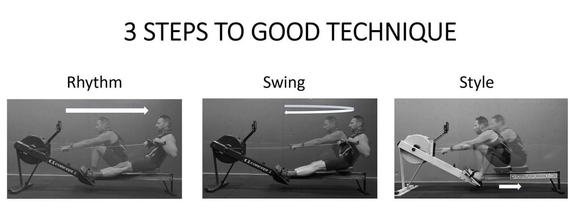 3 steps to good rowing technique