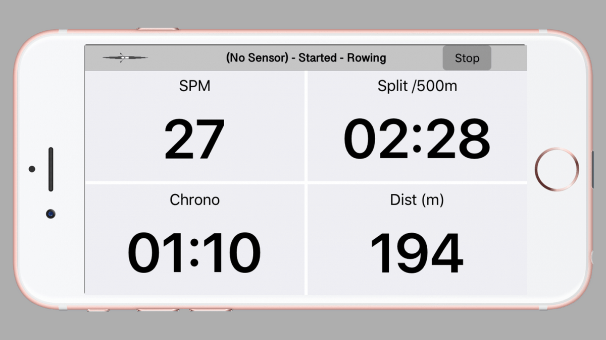 The Quiske Rowing App can be used a free speedometer