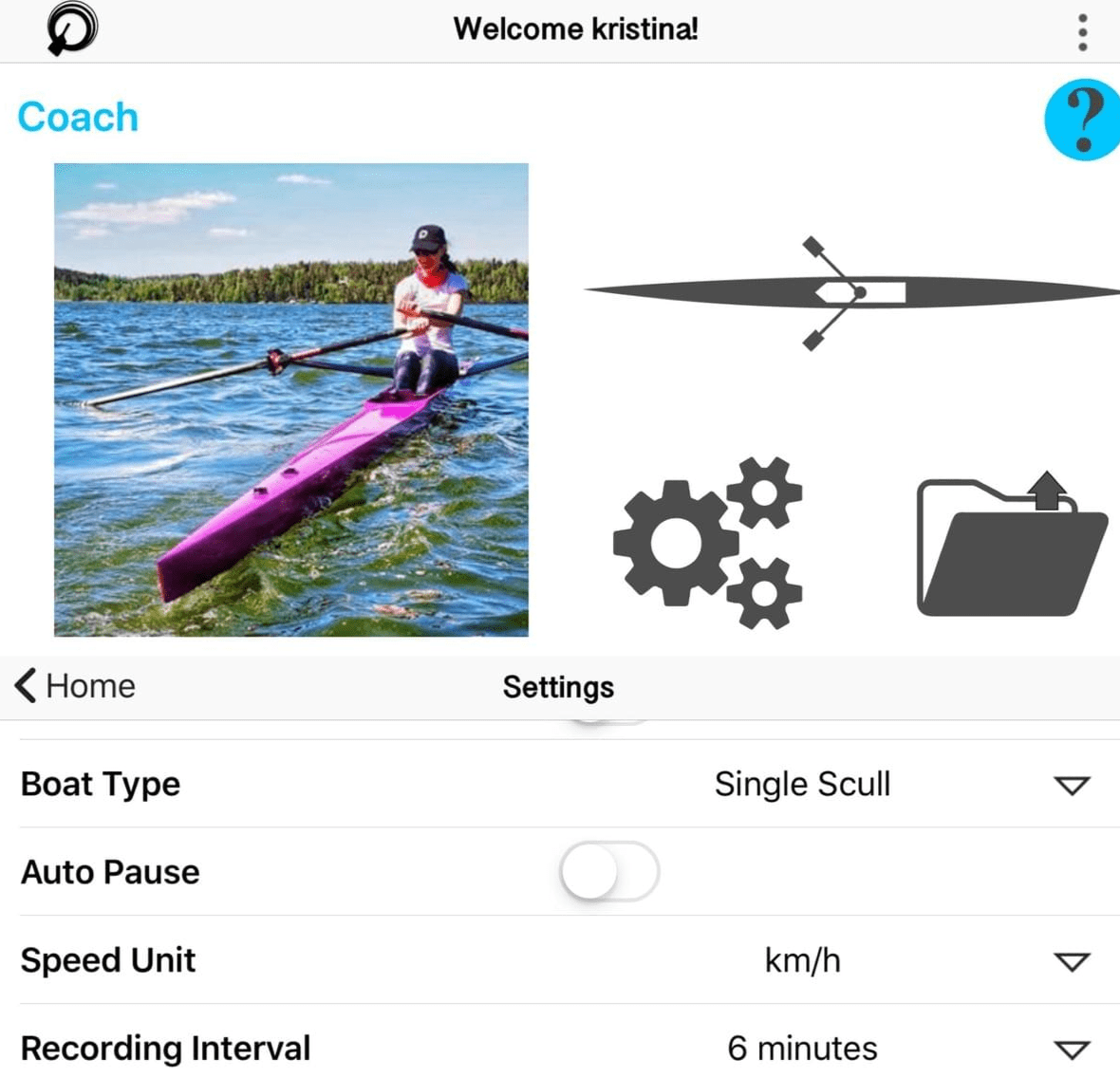 The Quiske Rowing App can measure intervals which is useful when making crew selections