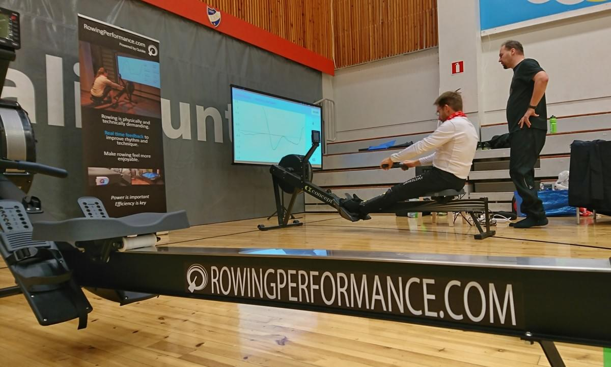 Our Rowing Performance system demo at the Finnish Indoor Rowing Championships in Helsinki Jan 2017