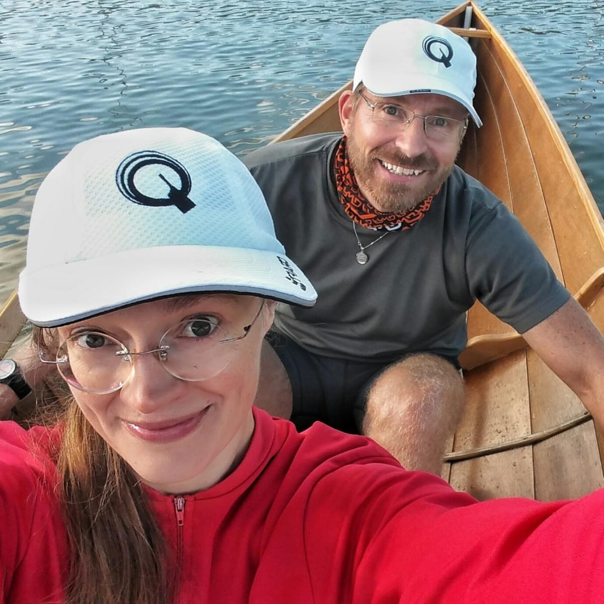 Quiske rowing school teachers Kristina Björknäs and Pentti Soini