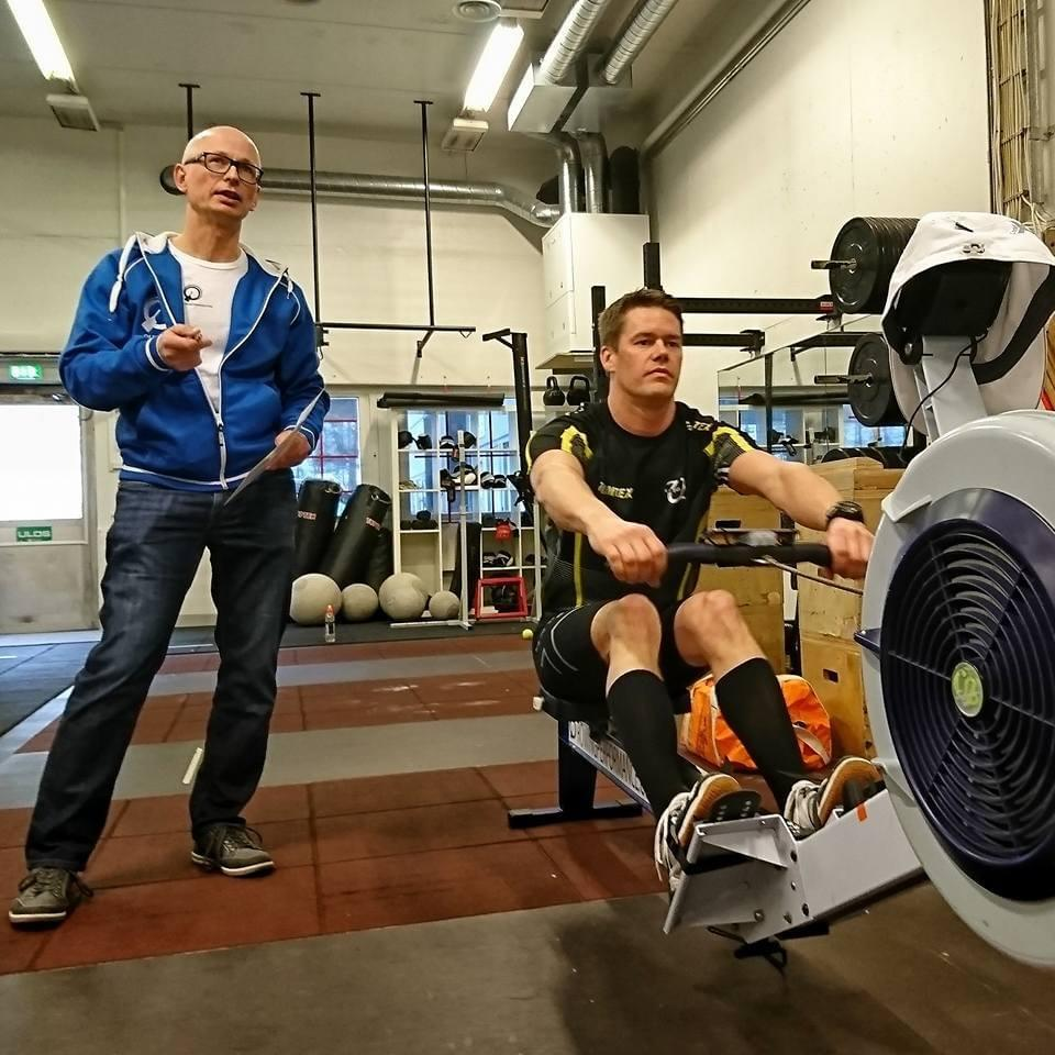 Ilkka and the Quiske Indoor Rowing Technique Clinique