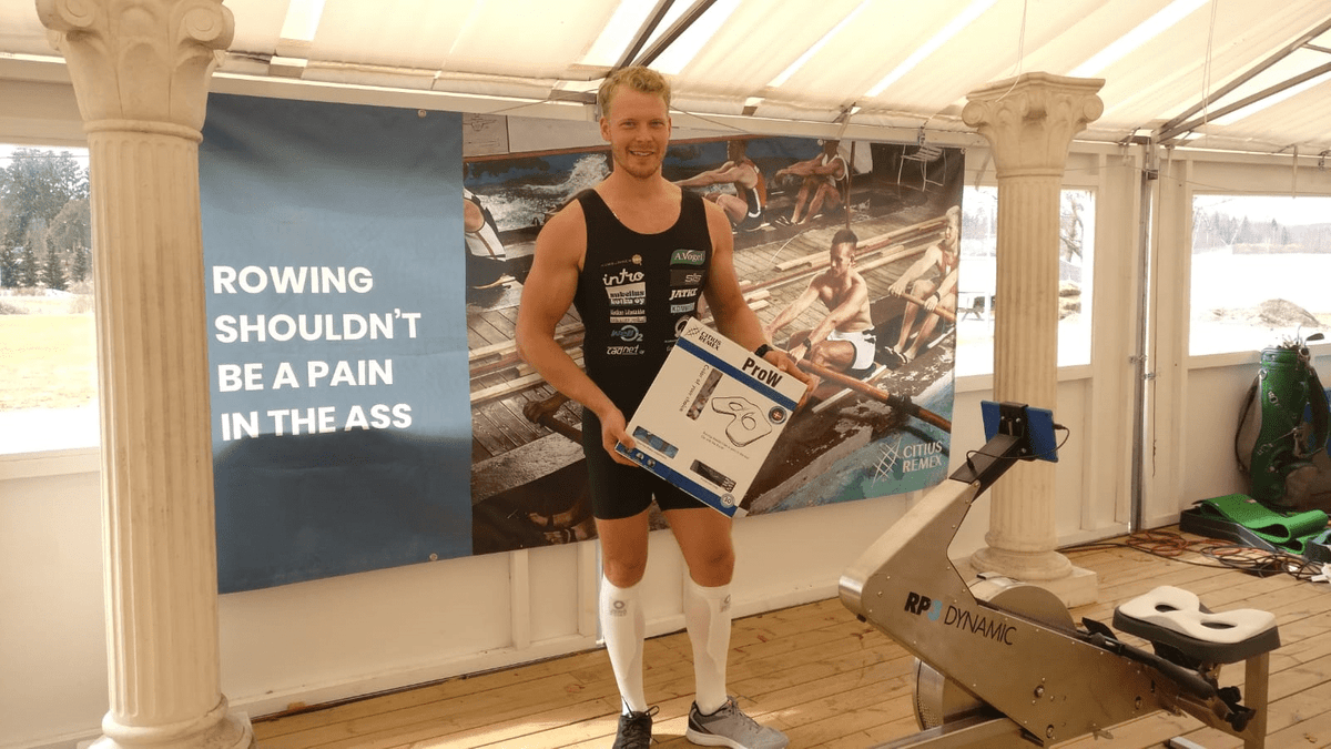 The ProW seat helps prevent legs go numb when rowing long distances