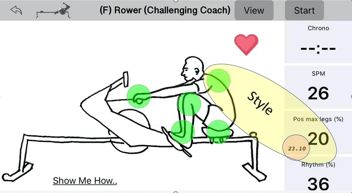 The Quiske Rowing Virtual Coach helps with rowing technique