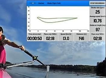 Stroke angles in real time, every stroke (here = 97deg)