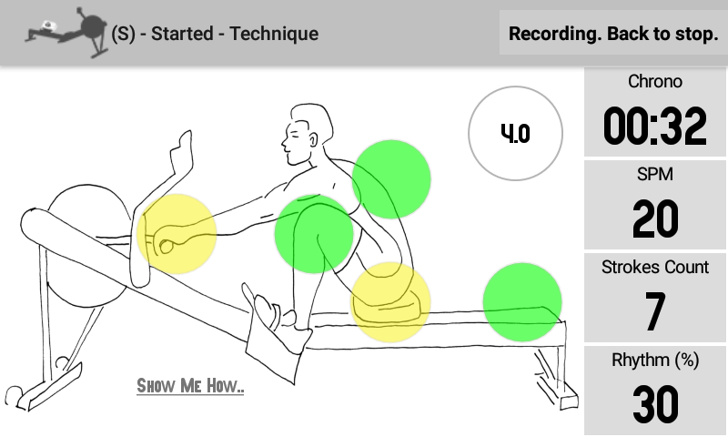 Instant feedback  on  rowing technique: the most important rhythm and style metrics