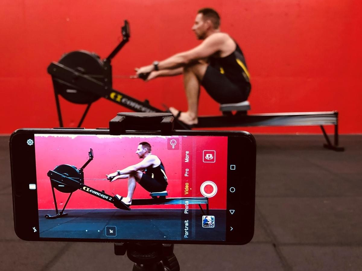 Shoot video from the side to help identify flaws in rowing technique