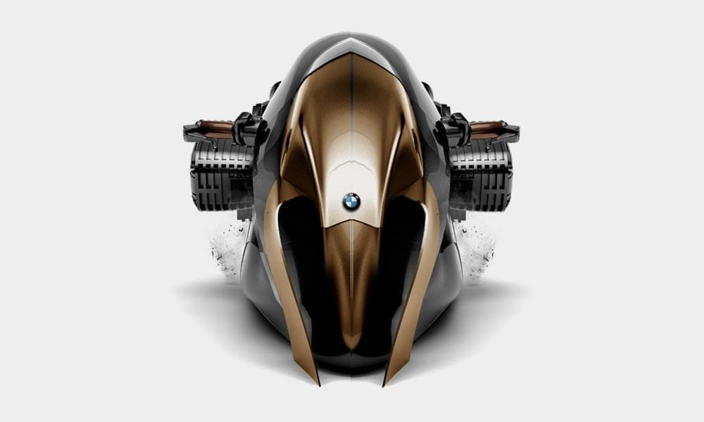 BMW R1100 concept bike face