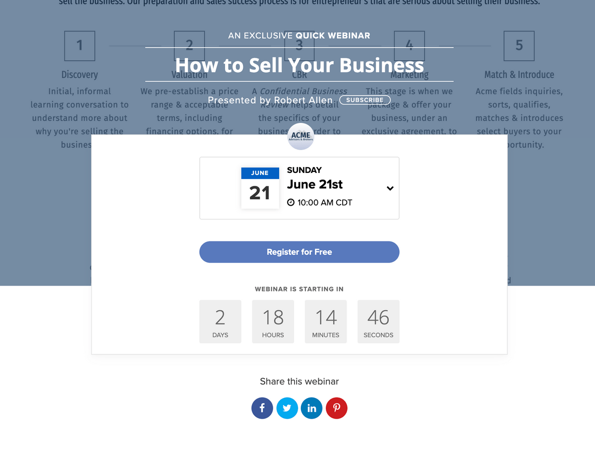 AAB- Quick Webinar: How to Sell Your Business