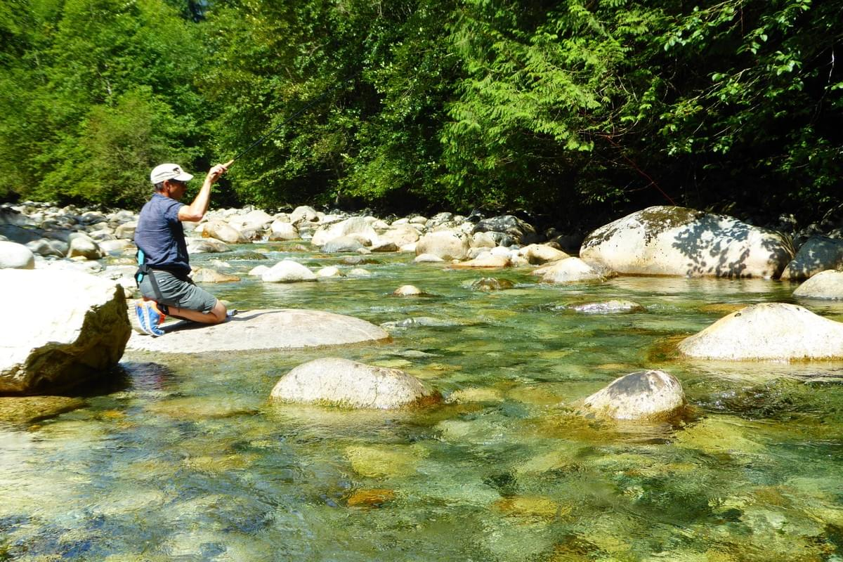 Tenkara fly fishing or praying to the fish gods???