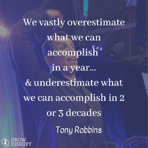 Tony Robbins quote about accomplishment