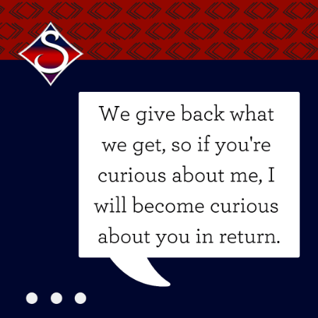 We Give Back What We Give, motivational quote by Stephanie Scheller
