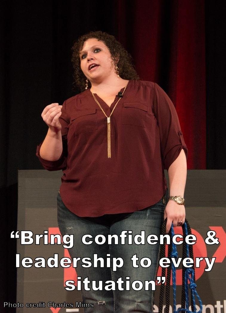"""Bring confidence & leadership to every situation"" Quote from Stephanie Scheller TED Talk"