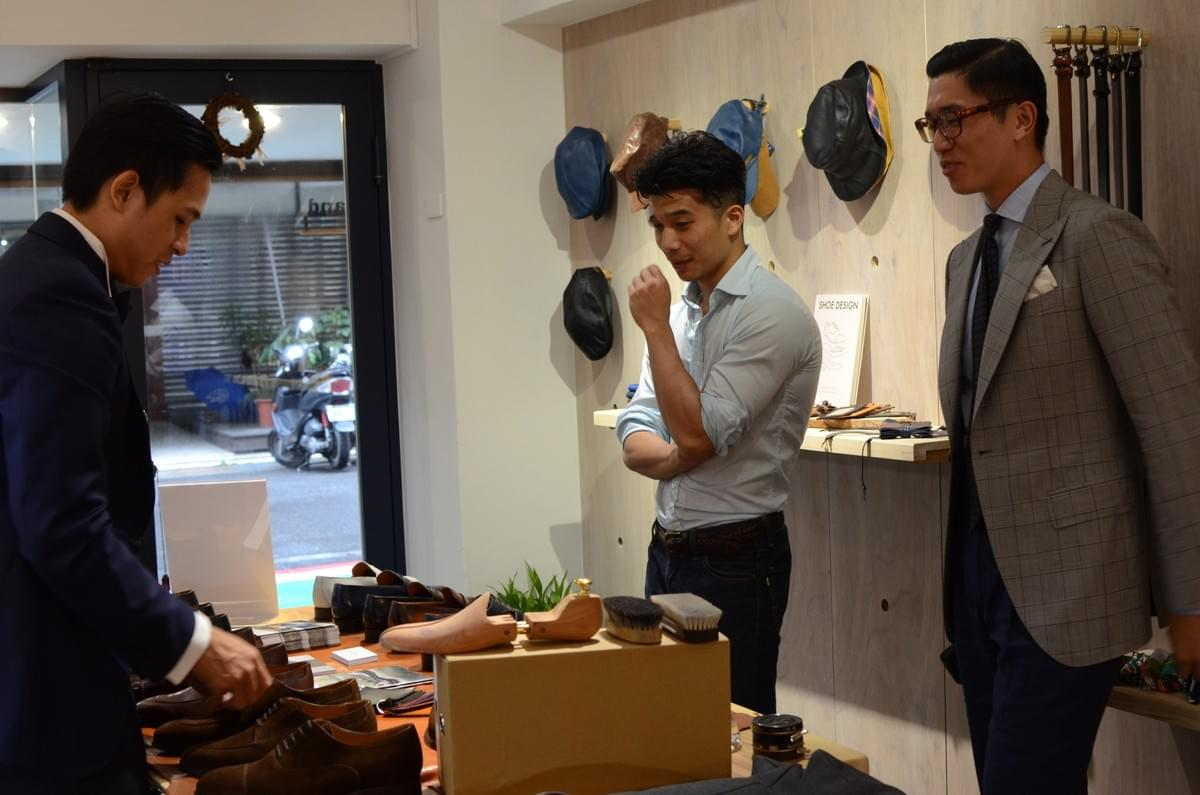 Barre et Brunel Footwear, Taiwan Trunk show at Ming Shine Taipei
