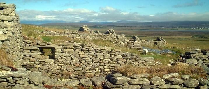Deserted village in Achill Island of Mayo was settled from at least the Anglo-Norman period.